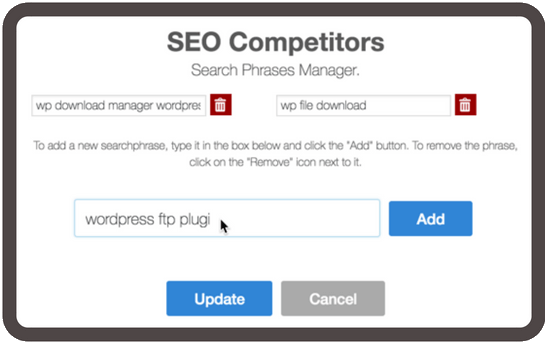 Build a list of target search queries you want to rank for